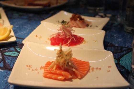 Sashimi Three Ways