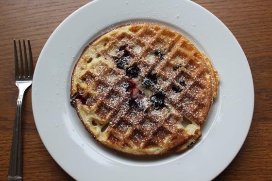 finished lemon blueberry waffles...yum