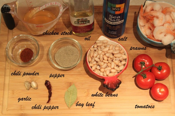 Garlic Shrimp Ingredients