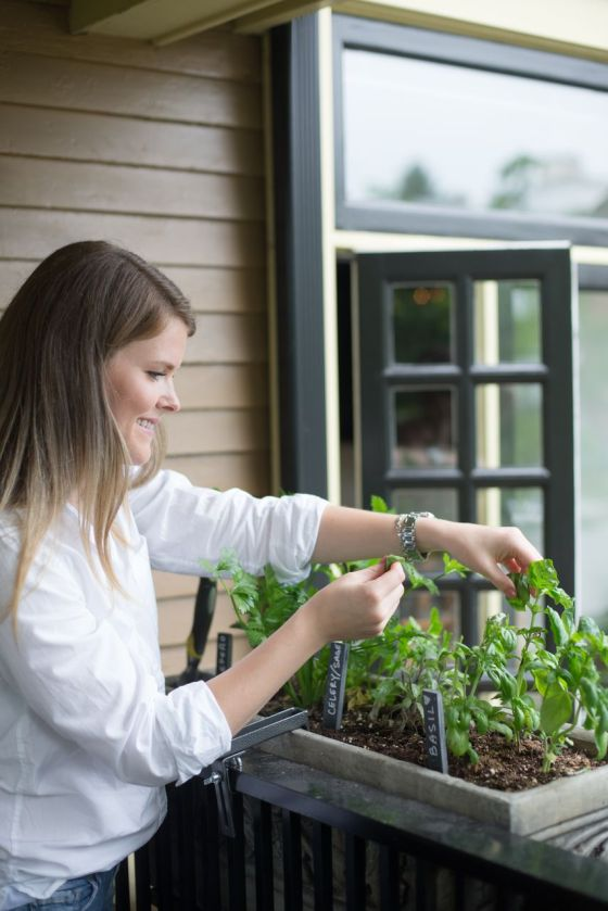 Having an herb garden makes last minute additions to your salad a sinch. I love hopping out there to grab something and add an extra zest to the dish.