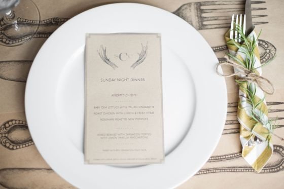 It's easy to print a menu, and it really adds that extra touch of finesse. Download our template to create one quickly.
