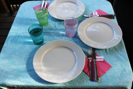 Sunday Night Dinner Table Set Up