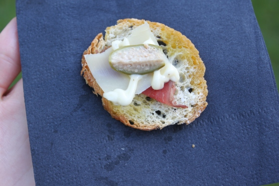 Caper Berry Crostini