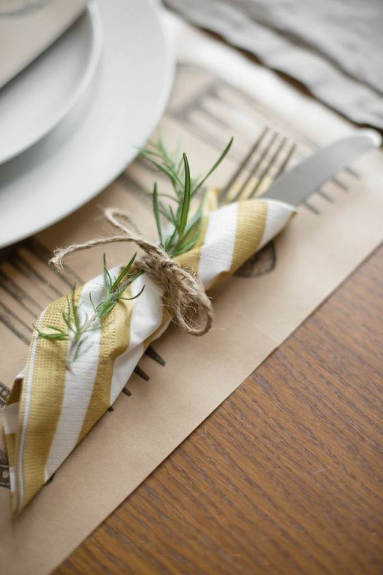 Rather than using cloth napkins and placemats, opt for paper! You can recycle them when it's over and it makes for an easy clean up so you have time to get ready for Monday morning.