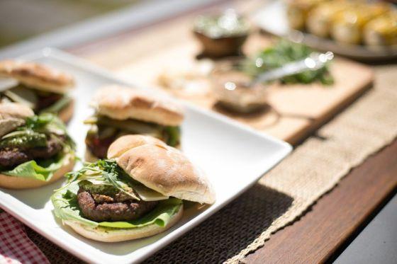 Gourmet Burgers Closeup