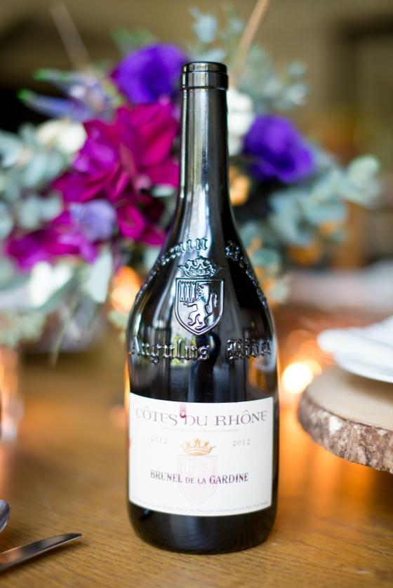 second wine: cotes du rhone brunel de la gardine