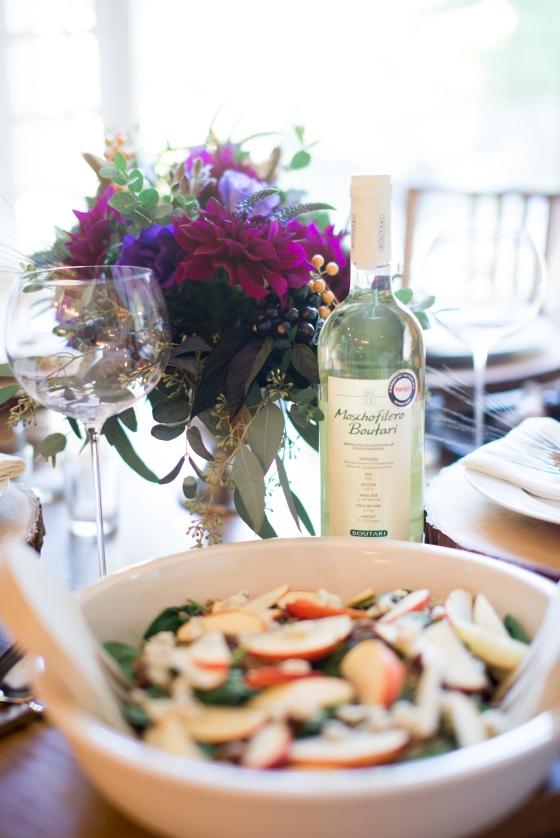 moschofilero boutari + harvest salad