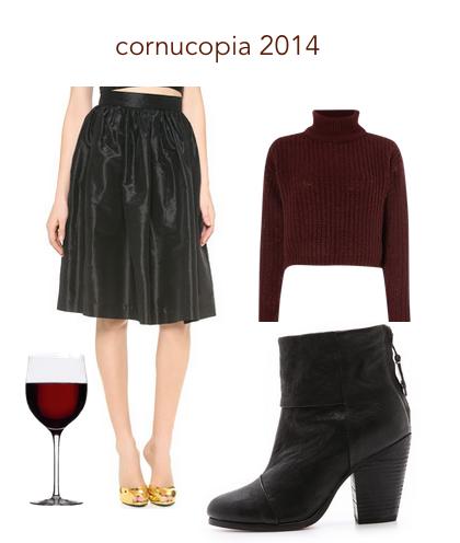 cornucopia party skirt